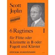 JOPLIN S. 6 RAGTIMES VOL 1 FLUTE/CLARINETTE/BASSON