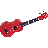 UKULELE MAHALO MR1-RD SOPRANO ROUGE BRILLANT