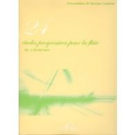 ANDERSEN J. 24 ETUDES PROGRESSIVES FLUTE