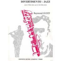 GUIOT R. DIVERTIMENTO-JAZZ FLUTES