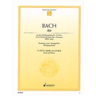 BACH J.S AIR DE LA SUITE EN RE BWV 1068 FLUTE
