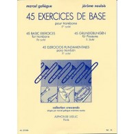 GALIEGUE J.M./NAULAIS J. 45 EXERCICES DE BASE TROMBONE