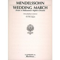 MENDELSSOHN F. WEDDING MARCH ORGUE