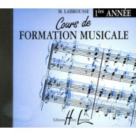LABROUSSE M. COURS DE FORMATION MUSICALE 1RE ANNEE CD