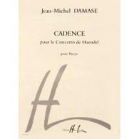 DAMASE J.M. CADENCE POUR LE CONCERTO DE HAENDEL HARPE