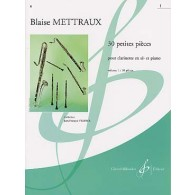METTRAUX B. 30 PETITES PIECES VOL 1 CLARINETTE