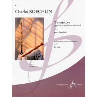 KOECHLIN C. 2 MONODIES OP 123 HAUTBOIS  SOLO