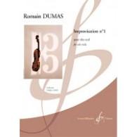 DUMAS R. IMPROVISATION N°1 ALTO