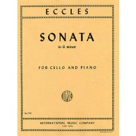ECCLES H. SONATA G MINOR VIOLONCELLE