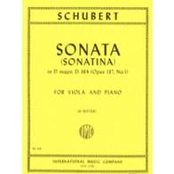 SCHUBERT F. SONATINA N°1 OP 137 D 384 ALTO