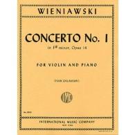 WIENIAWSKI H. CONCERTO N°1 OP 14 VIOLON