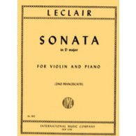 LECLAIR J.M. SONATA D MAJOR VIOLON