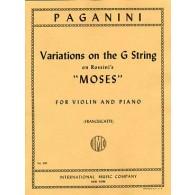 """PAGANINI N. VARIATIONS SUR LA CORDE DE SOL """"MOSES""""  VIOLON"""