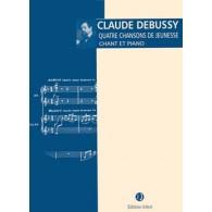 DEBUSSY C. 4 CHANSONS DE JEUNESSE CHANT