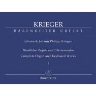 KRIEGER J.P. COMPLETE ORGAN AND KEYBOARD WORKS VOL 1