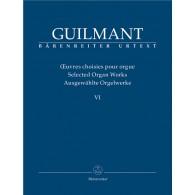 GUILMANT A. OEUVRES D'ORGUE VOL 6 ORGUE