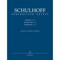 SCHULHOFF E. SONATES PIANO