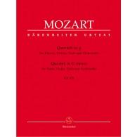 MOZART W.A. QUATUOR AVEC PIANO EN SOL MINEUR
