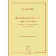 DE FALLA M. VIE BREVE: DANSE ESPAGNOLE N°1 PIANO 4 MAINS