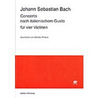 BACH J.S. CONCERTO ITALIEN BWV 971 VIOLONS