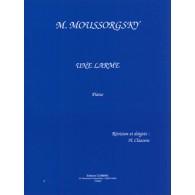 MOUSSORGSKY M. UNE LARME PIANO