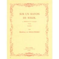 DE RIBAUPIERRE M. SUR UN RAYON DE SOLEIL PIANO