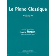 DESCAVES L. LE PIANO CLASSIQUE VOL 4