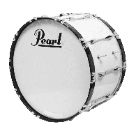 "PEARL GROSSE CAISSE COMPETITOR 18x14"" PURE WHITE"