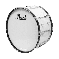 "PEARL GROSSE CAISSE COMPETITOR 26x14"" PURE WHITE"