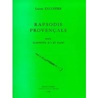 EXCOFFIER L. RAPSODIE PROVENCALE CLARINETTE