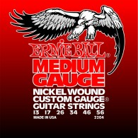 JEU DE CORDES ERNIE BALL 2204 MEDIUM GAUGE NICKEL WOUND 13/56