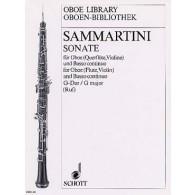 SAMMARTINI G.B. SONATA OP 13/4 EN G MAJOR HAUTBOIS
