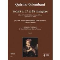 COLOMBANI Q. SONATE N°17 FA MAJEUR  FLUTE A BEC