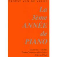 VAN DE VELDE METHODE ROSE VOL 3  PIANO