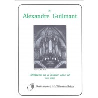 GUILMANT A. ALLEGRETTO EN SI MINEUR OP 19 ORGUE