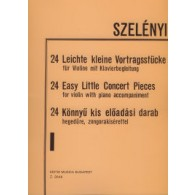 SZELENYI I. 24 EASY LITTLE CONCERT PIECES VOL 1 VIOLON