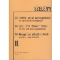SZELENYI I. 24 EASY LITTLE CONCERT PIECES VOL 2 VIOLON