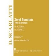 SCARLATTI D. TWO SONATES FLUTES