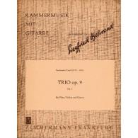 CARULLI F. TRIO OP 9 N°1 FLUTE, VIOLON ET GUITARE