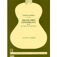 MOLINO V. GRAND TRIO CONCERTANT OP 10 VIOLON ALTO GUITARE