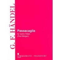 HAENDEL G.F. PASSACAGLIA 6 FLUTES
